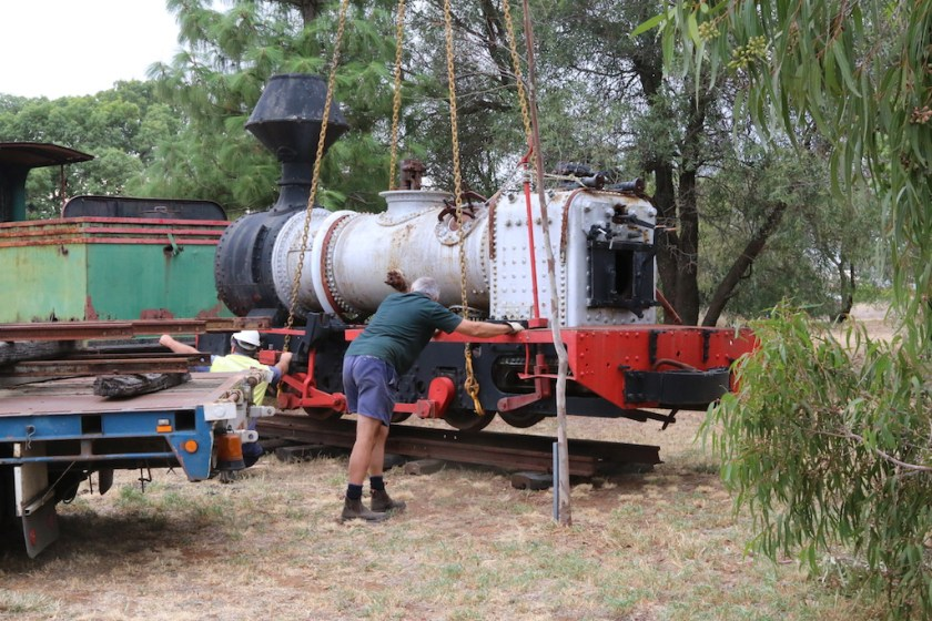 2016.2131: Arrival of the Fowler at Junee, Friday 8th April 2016.