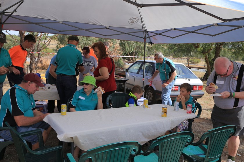 Image Joel 2388: There seemed to be plenty of chairs around the tables to sit down to enjoy the BBQ and drinks.