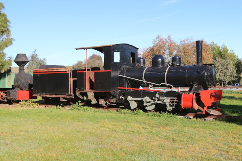 "Image 2017.3021: The partially cosmetically restored Perry locomotive, with the Fowler loco in the background. The tender actually belongs to the Fowler, but doesn't look out-of-place behind the Perry! What do others think?! The dual 3'6"" (1067mm) and 2'0"" (610mm) gauge couplings are visible on the front of the Perry."