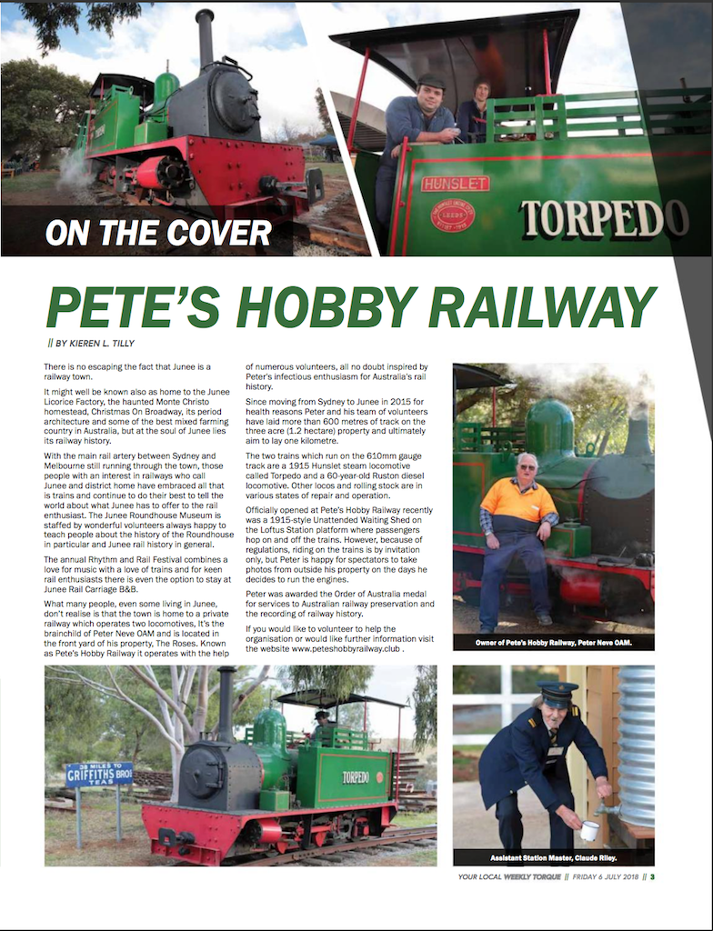 Torque July 6, 2018 Page 3 - Pete's Hobby Railway