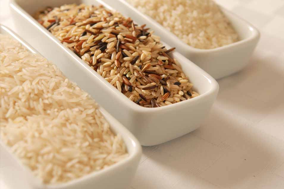 Picture of 3 kinds of rice