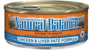 Photo of Natural Balance Ultra Premium Chicken & Liver Paté Formula canned cat food