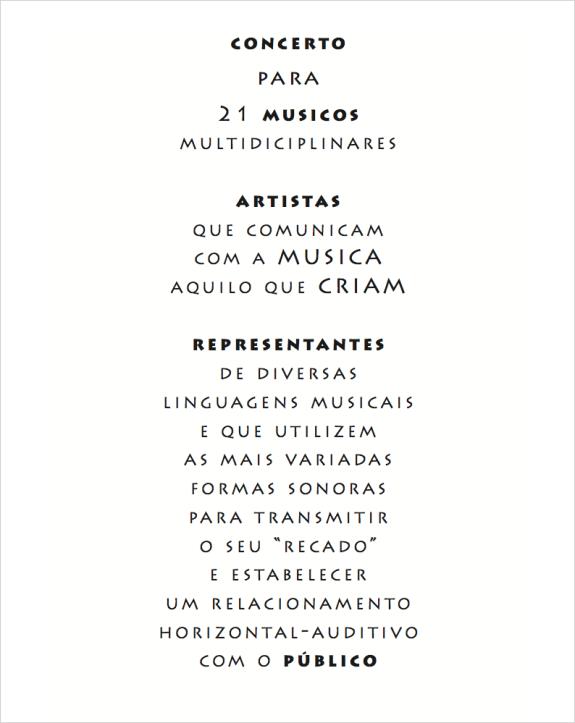 Concerto Para 21 Músicos