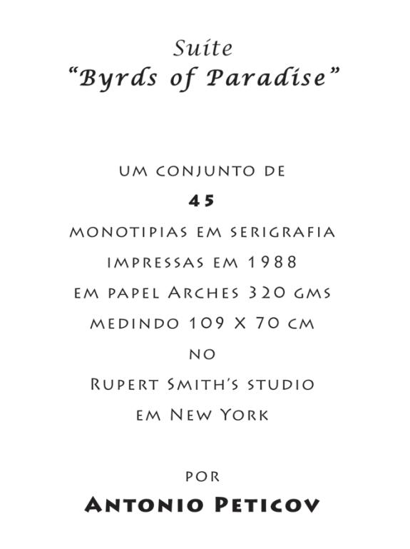 Suite Birds of Paradise – Introdução