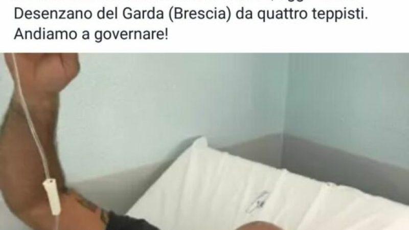 Salvini in un suo post parla di un giovane petilino aggredito
