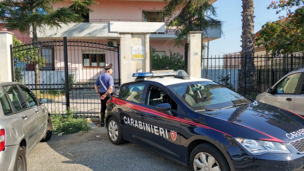 Furto alla Regione, intervengono i Carabinieri al distaccamento di Crotone