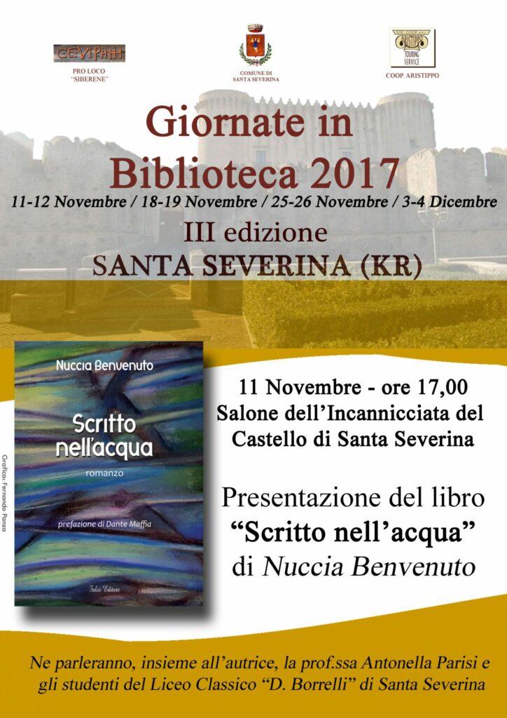 Giornate in Biblioteca a Santa Severina: parte la terza edizione
