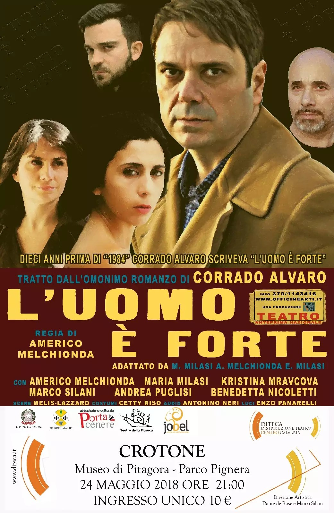 L'uomo è forte: domani spettacolo teatrale in scena a Crotone