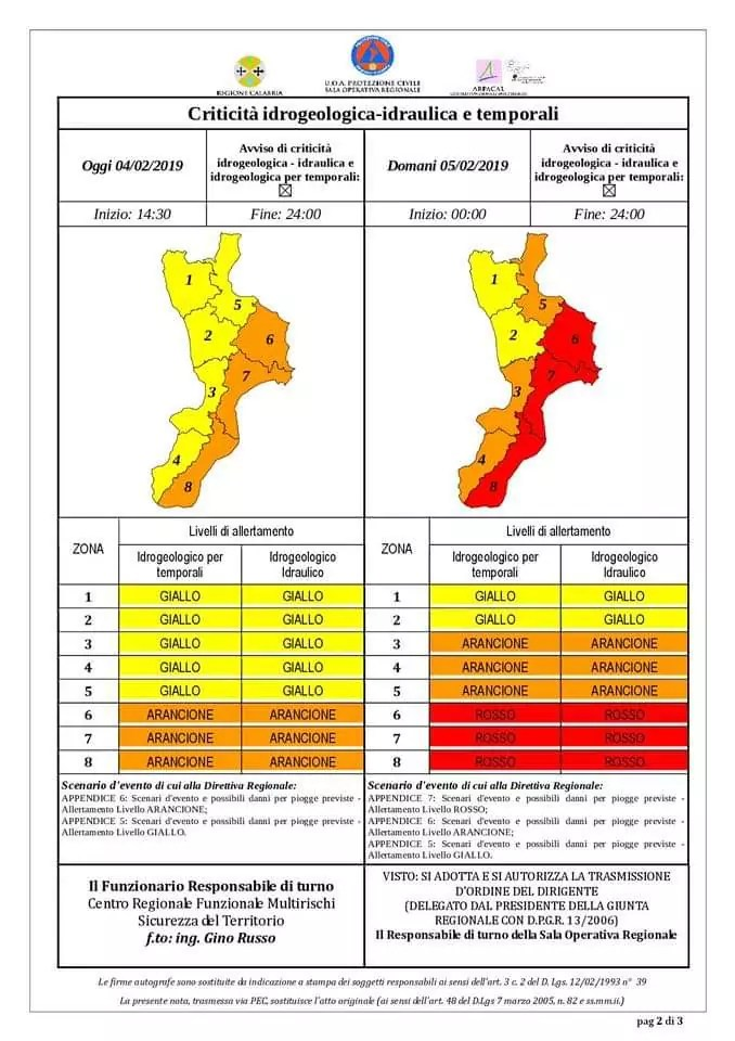 Allerta meteo in Calabria, la fascia jonica la più colpita. Scuole chiuse a Crotone