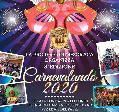 Carnevale 2020: a Mesoraca si arriva all'ottava edizione