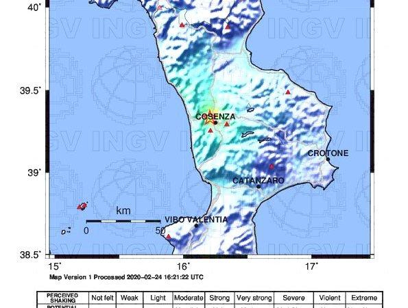 Terremoto di 4.4 a Rende