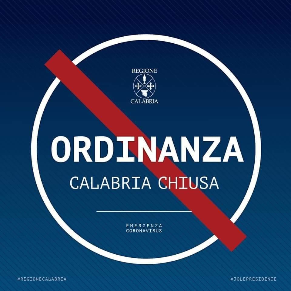 Coronavirus: Calabria chiusa, la Santelli firma l'ordinanza