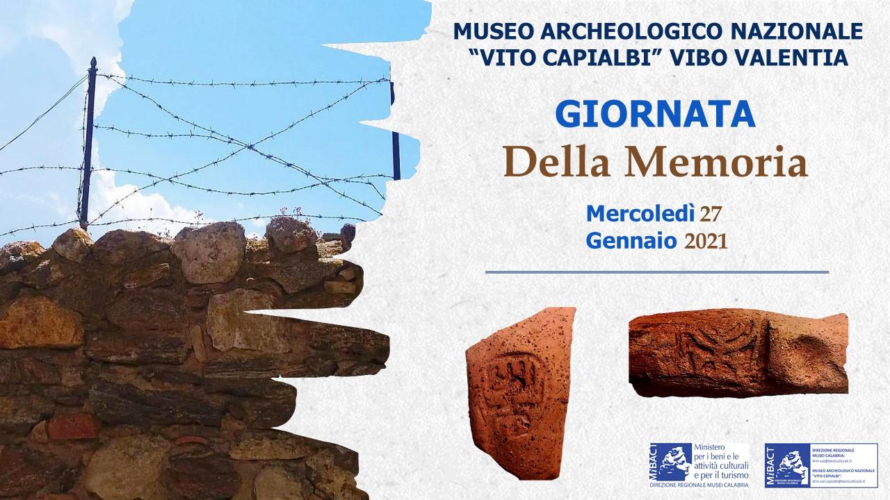 Giornata della Memoria, ecco gli appuntamenti promossi dalla Direzione regionale Musei Calabria