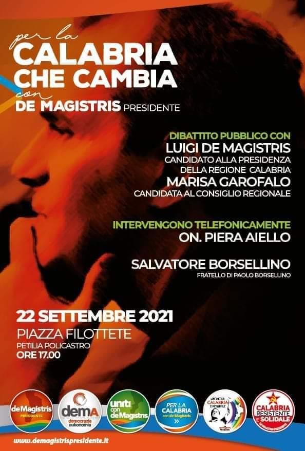 De Magistris a Petilia per dibattito pubblico