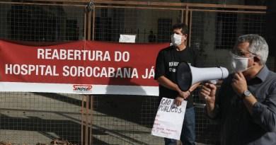 Faixa do Ato Reabre Sorocabana