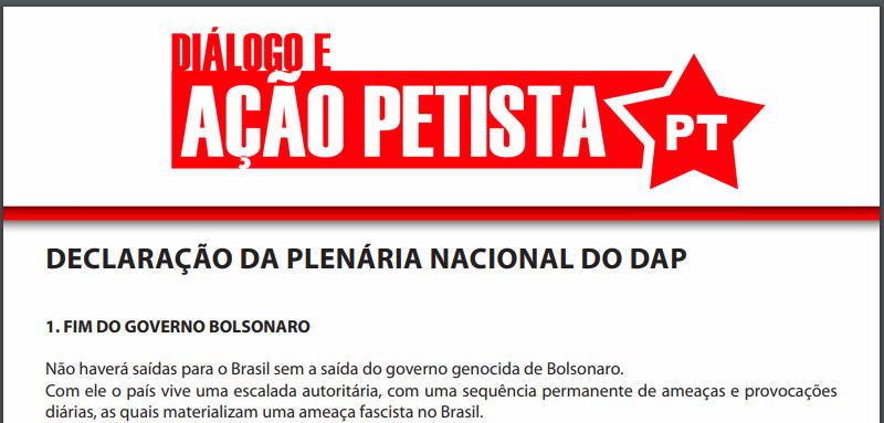 foto da declaração da PlenDAP