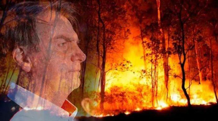 Amazonia em chamas e bolsonaro
