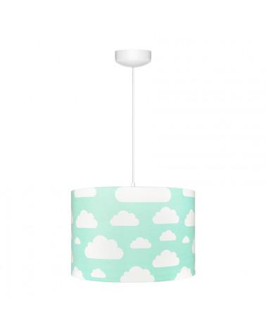 suspension ou abat jour menthe motif nuages