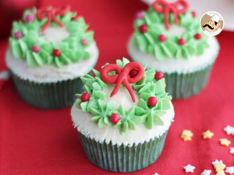 Cupcakes decoradas de Navidad, Receta Petitchef