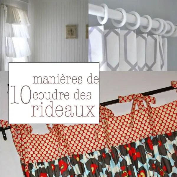 10 facons de confectionner des rideaux