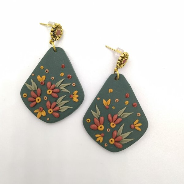 Forest Green Dangles