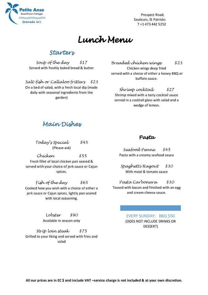 Petite_Anse_Lunch_menu