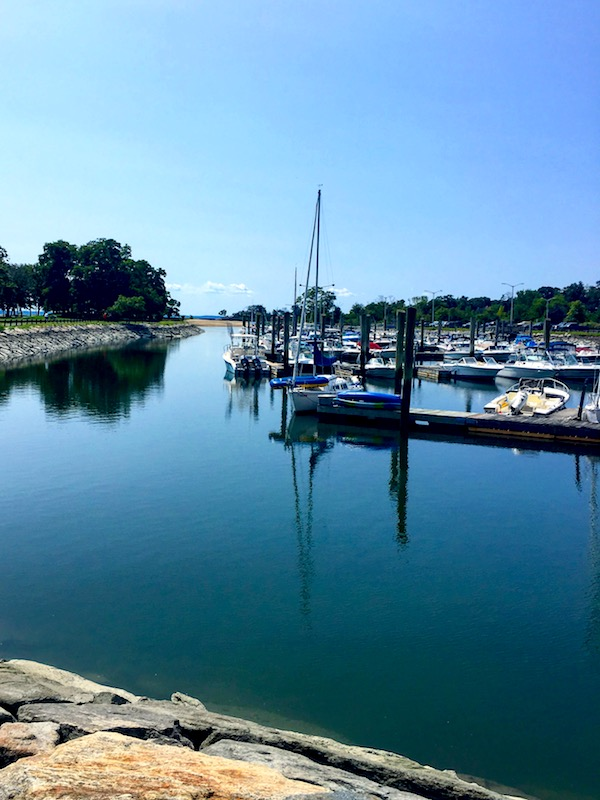 Boats on Long Island Sound in Stamford, Connecticut | Cove Island Beach