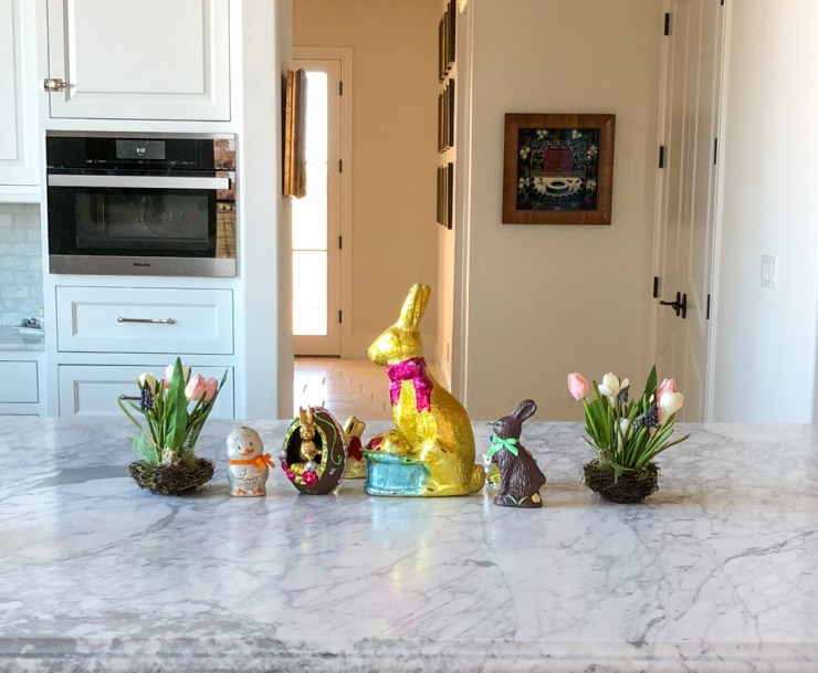 easter chocolates in the kitchen