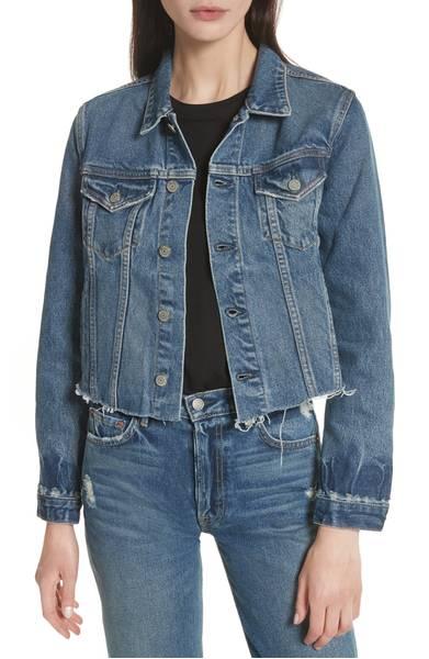 Cara Crop Denim Jacket GRLFRND