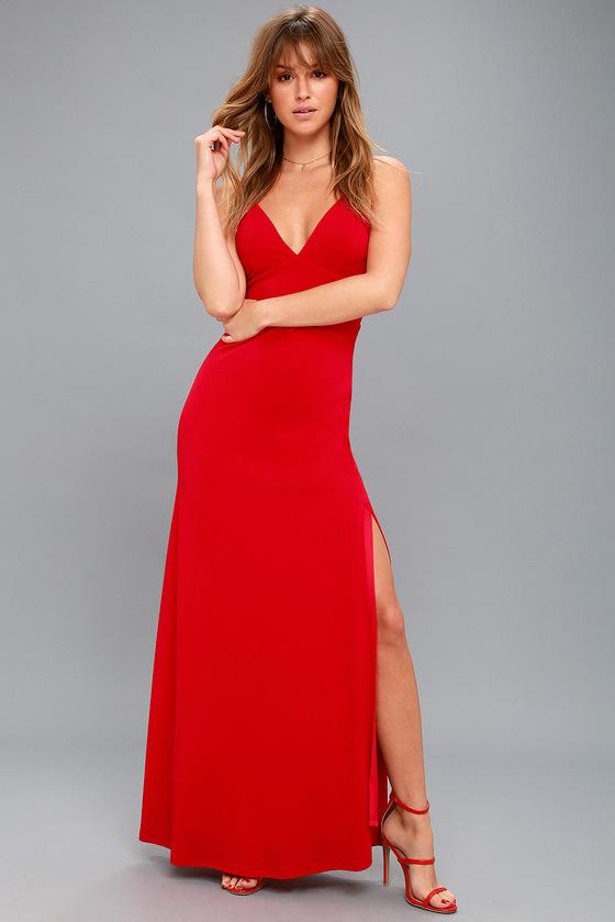 LIMOUSINE QUEEN RED MAXI DRESS