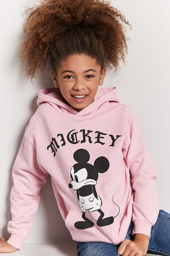 Girls Mickey Mouse Hoodie