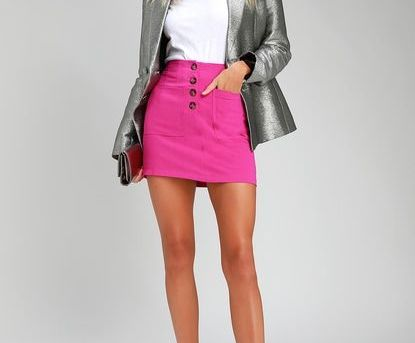 PLAY DATE FUCHSIA MINI SKIRT