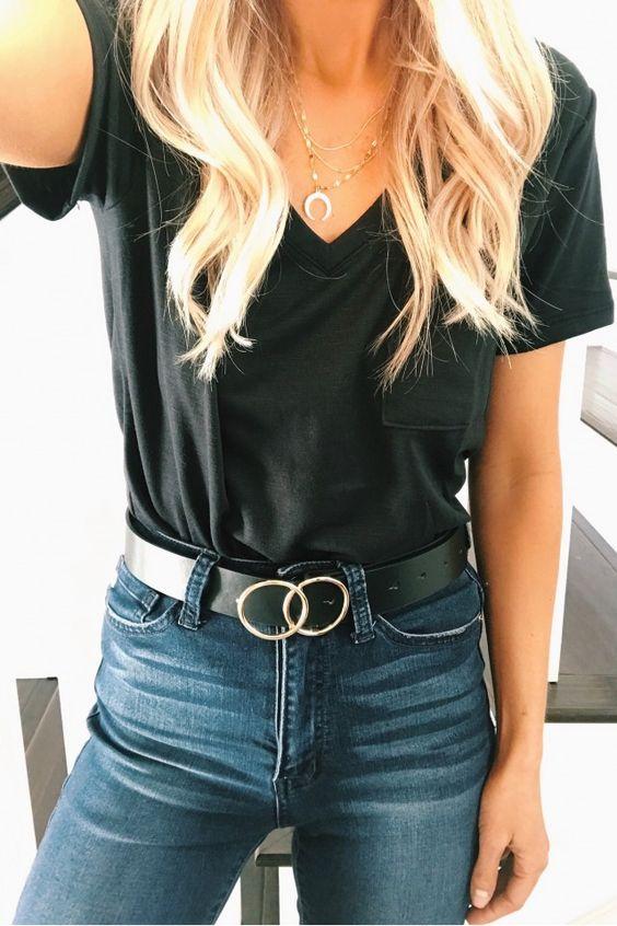 RING BELT BLACK