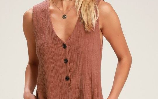 CAMILLE RUST BROWN SLEEVELESS ROMPER