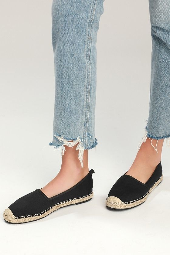 GAMILA BLACK SLIP-ON ESPADRILLE SNEAKERS