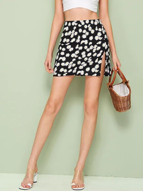 Summer skirts with side slit....