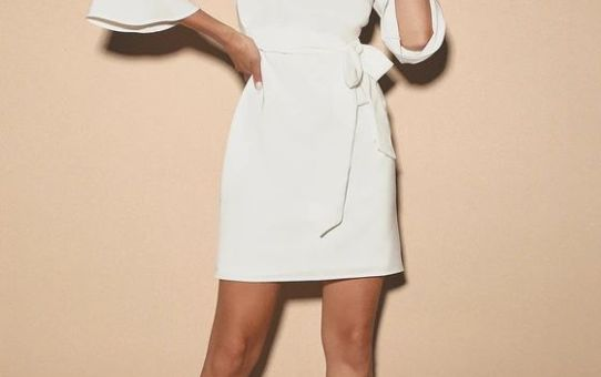 LAST LOVE SONG WHITE TIE-WAIST DRESS