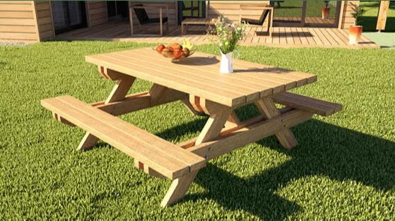 devis table en bois pour l exterieur