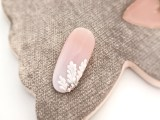 Wedding nail art – baby boomer + oak leaves