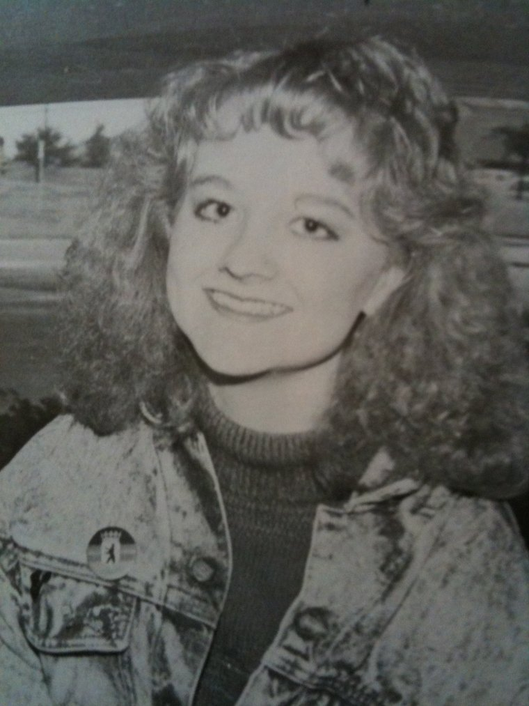 1986 from the high school yearbook. The acid wash denim. THE HAIR.