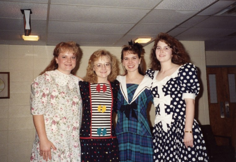 1991 - Patterns and bows and big sleeves! Oh My!