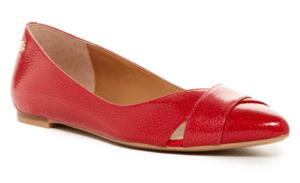 Red Calvin Klein Gailia Flat on sale at Nordstrom Rack.