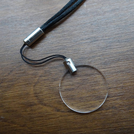 magnifying glass pendant necklace monocle loupe