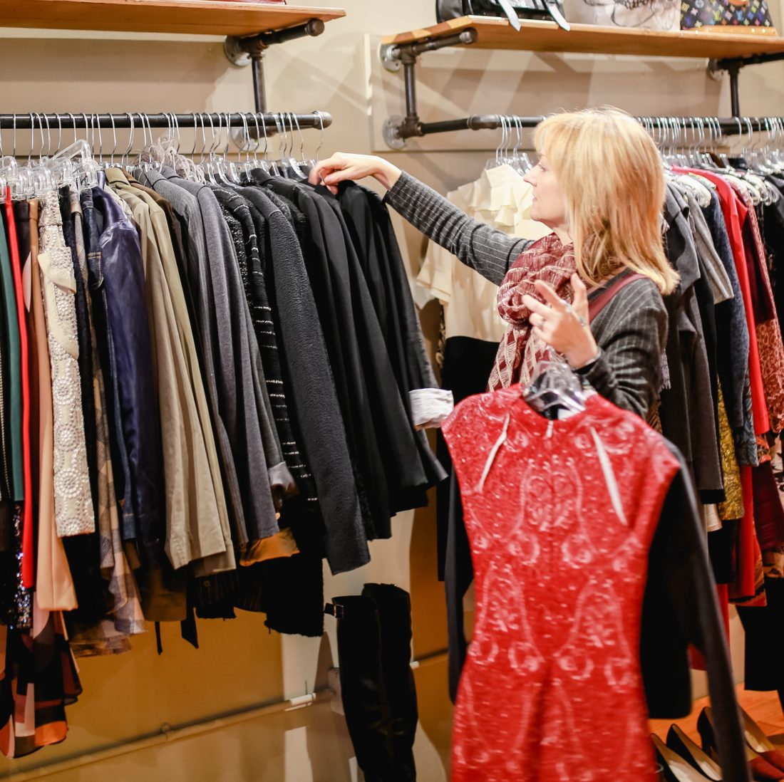Designer clothes at Sell Your Sole Consignment in Seattle.