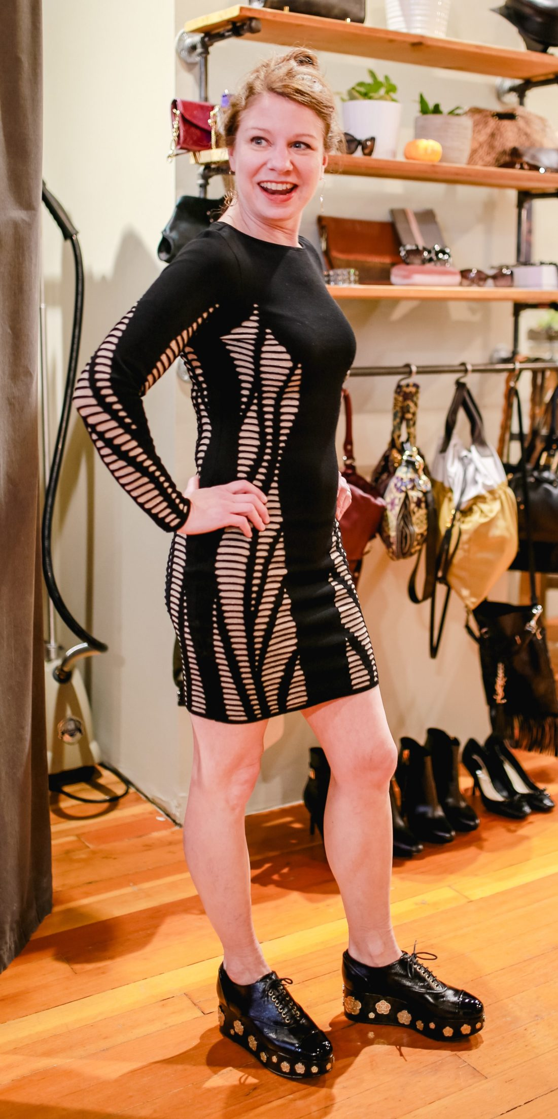 Designer dress at Sell Your Sole Consignment in Seattle.