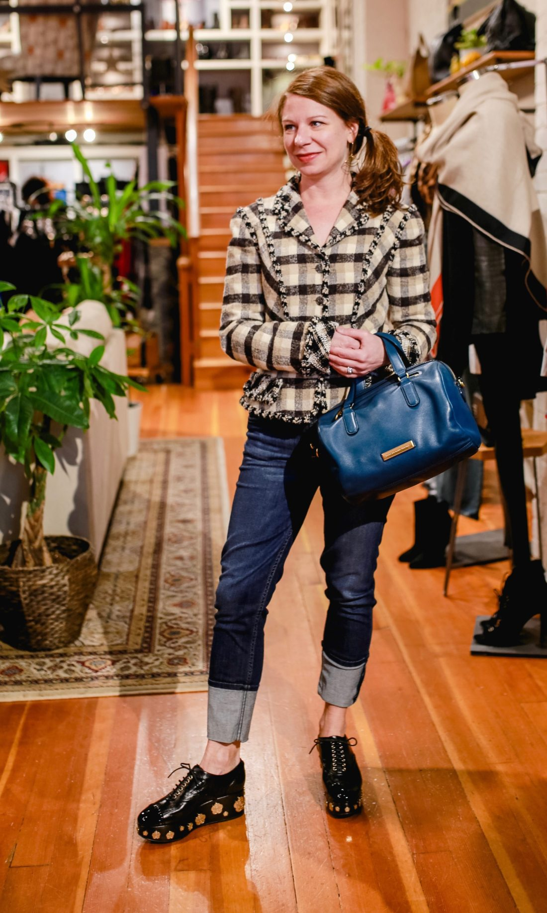 Chanel jacket, designer jeans and accessories at Sell Your Sole Consignment in Seattle.