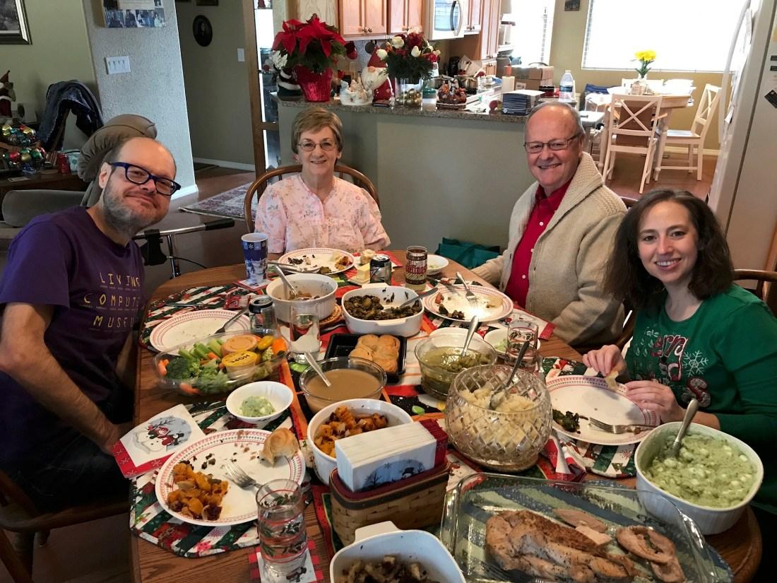 Christmas dinner a la Whole Foods.