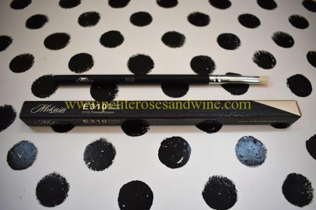 MikasaE310PencilBrush Mikasa Beauty Brushes:: Complete Eye Set & Lemon Drop Review MAKEUP