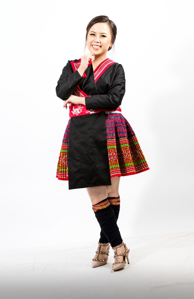 A2A0625-666x1024 Hmong Outfit :: Red Appliqué & Zig Zags DIY HMONG Hmong Outfit Series