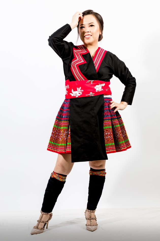 A2A0646-683x1024 Hmong Outfit :: Red Appliqué & Zig Zags DIY HMONG Hmong Outfit Series